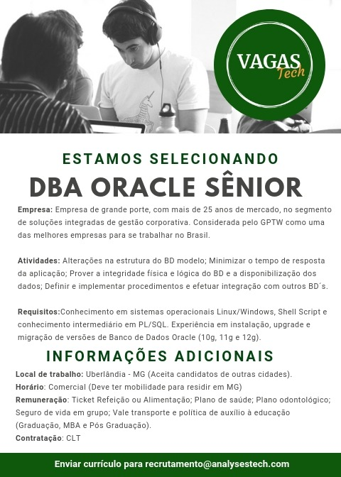 Analysestech - DBA Oracle Sênior